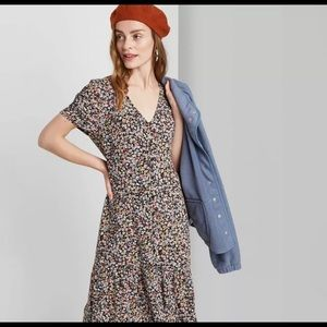 Wild Fable floral Midi Dress summer S new
